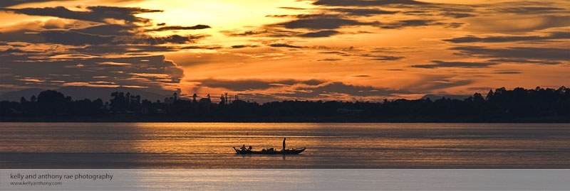 Golden Sunset, Mekong River Cambodia, Kelly and Anthony Rae Photography