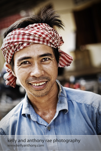 Phnom Penh Portrait of Khmer Construction Worker Kelly and Anthony Rae Photography