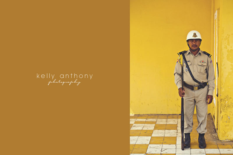 a photo a day - guard at the royal palace, phnom penh