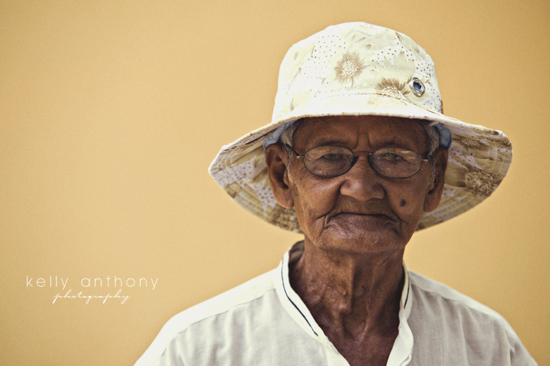 a photo a day: old man cyclo driver, cambodia