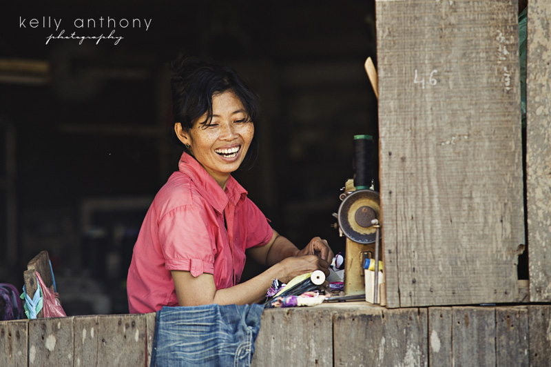a photo a day - day 22 - Khmer woman smiling