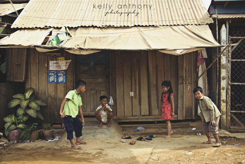a photo a day - Cambodian children playing a game