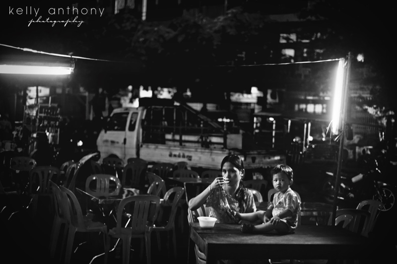 a photo a day - eating dinner at the market