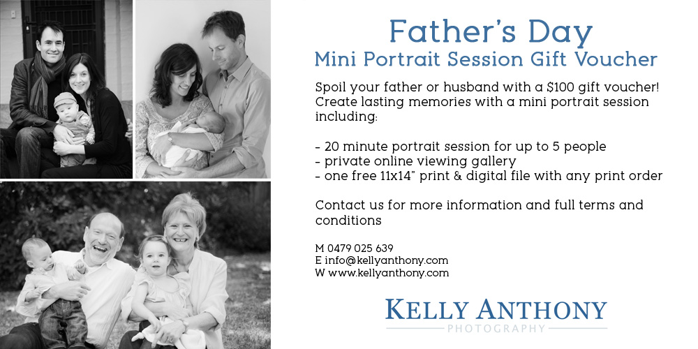 Father's day portrait sessions