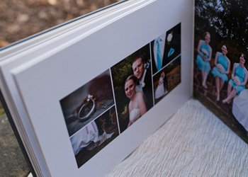Flushmount wedding album