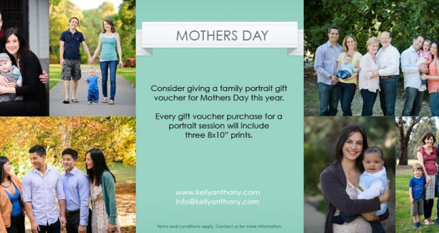 Portrait Gift Vouchers for Mothers Day