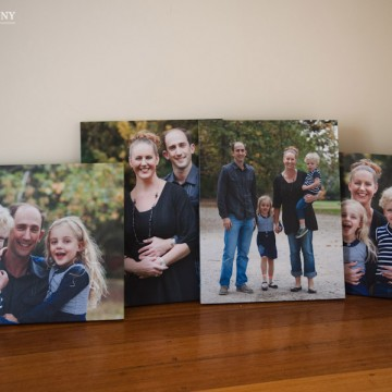 Family portraits and canvas prints
