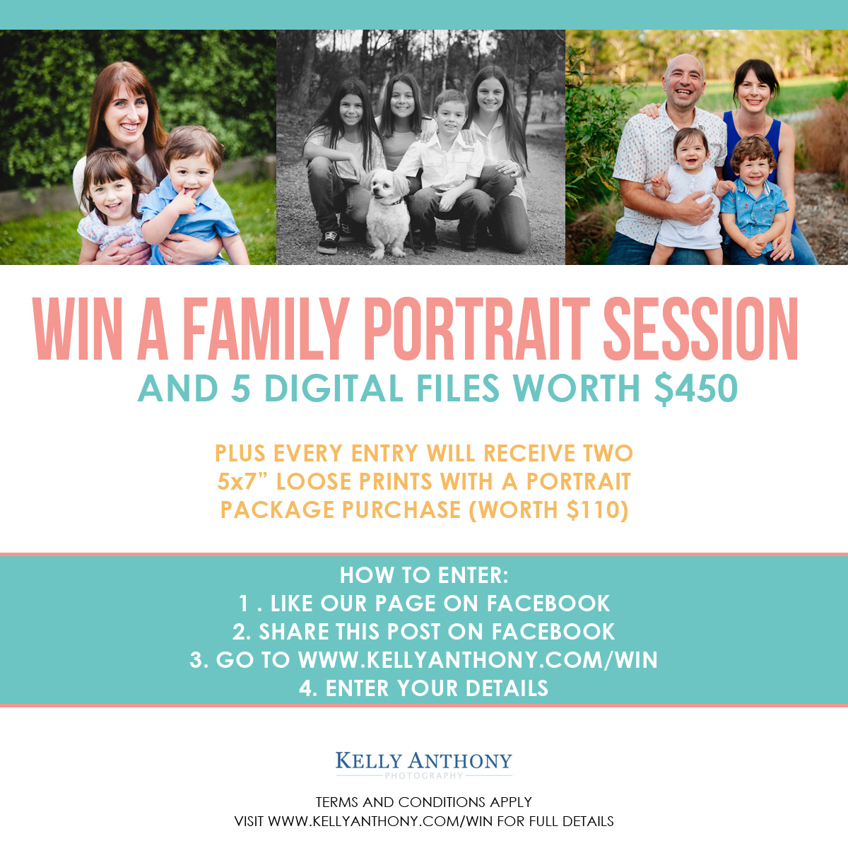 Win a family portrait session
