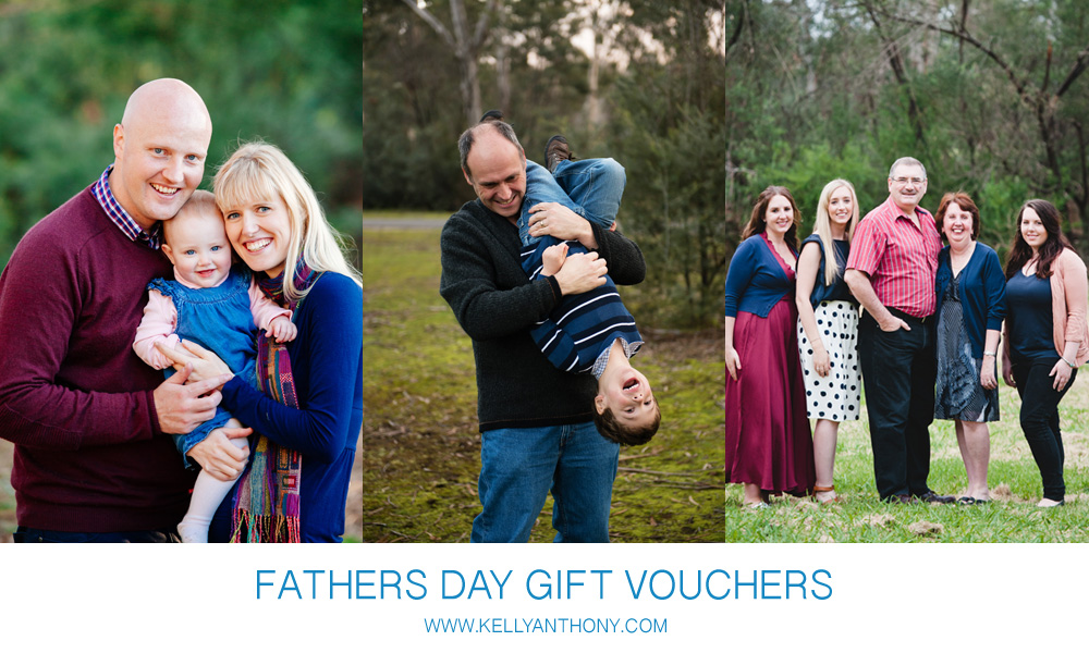 Fathers Day Portrait Photography Gift Vouchers